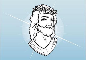 Jesus Christ Face - Kostenloses vector #149517