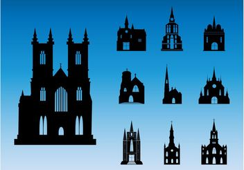 Church Silhouettes - vector gratuit #149557