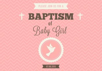 Free Baby Girl Baptism Vector Invitation - Kostenloses vector #149617