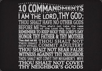 Free Vector 10 Commandments On Chalkboard - Free vector #149667