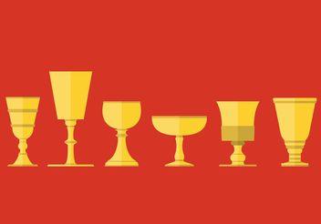 Medieval Goblet Vector Set - vector #149747 gratis