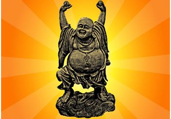 Dancing Buddha - vector gratuit #149797