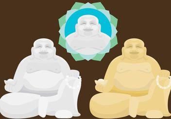 Fat Buddha Vectors - vector gratuit #149857