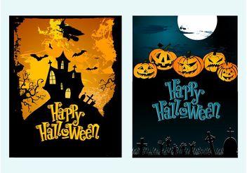 Halloween Posters - Free vector #149907