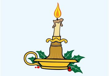 Christmas Candle - Free vector #149947