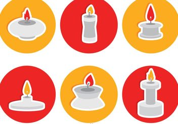 Silver Candlesticks Flat Icons Vector - Free vector #149957