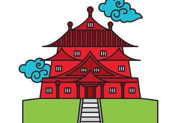 Chinese Temple Vector - vector #149967 gratis