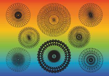 Kaleidoscope Vectors - Kostenloses vector #149997