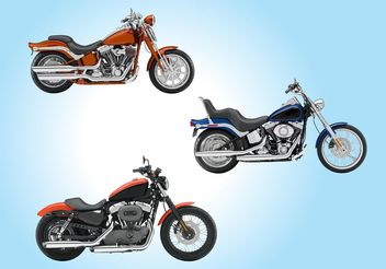 Motorcycles - Free vector #150017