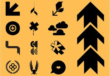 Cool Icons Vectors Set - Free vector #150137