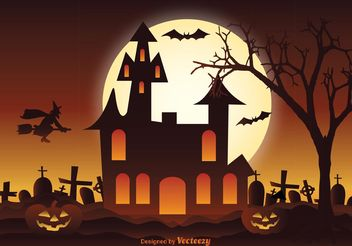 Halloween Illustration - vector gratuit #150167