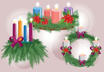Advent Wreath Vectors - Free vector #150187