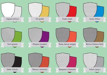 Heraldic Color Shields - Free vector #150227
