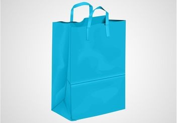 Blue Shopping Bag - vector gratuit #150267