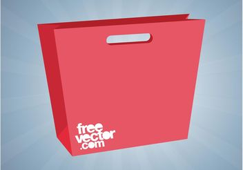 Red Shopping Bag - Kostenloses vector #150277