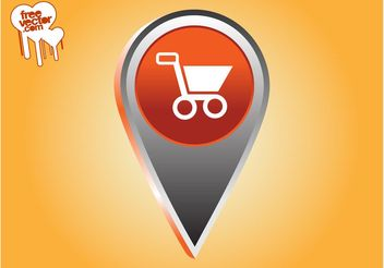 Shopping Pointer Icon - Free vector #150347