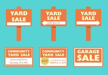Yard Sale Signs - Free vector #150447