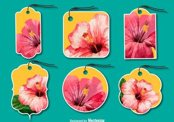 Fashion Floral Tags - Free vector #150487
