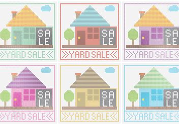 Yard Sale Sign Vectors - vector gratuit #150497