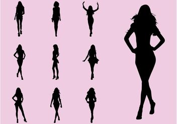 Fashion Models - vector gratuit #150537