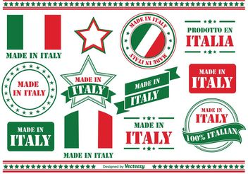 Made in Italy Labels - vector #150587 gratis