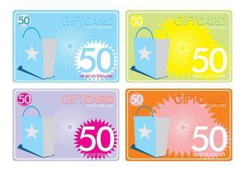 Gift Cards Templates - Free vector #150637