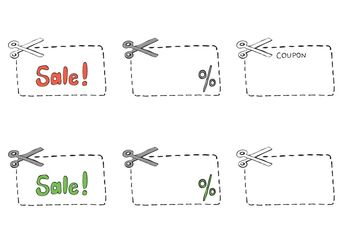 Free Scissors/ Coupon Vector Series - vector gratuit #150657