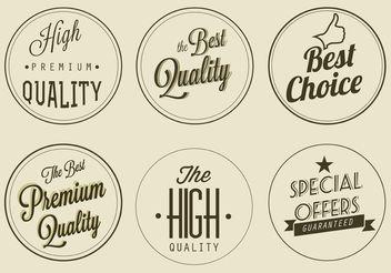Free Vector Premium Quality Labels - бесплатный vector #150677