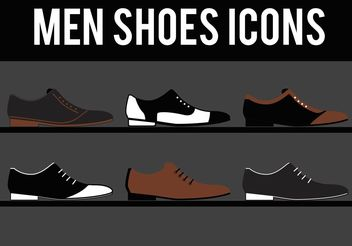 Dressy Mens Shoes Vectors - Kostenloses vector #150807