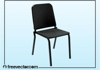 Black Plastic Chair - vector gratuit #150867