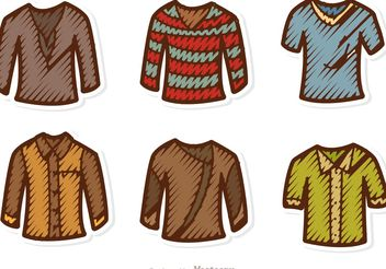 Man Shirt Vectors Pack - Free vector #150907