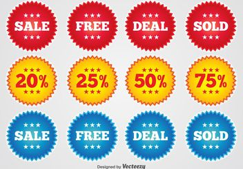 Promotional Badges - vector gratuit #151107
