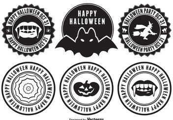 Halloween Badges - vector gratuit #151127