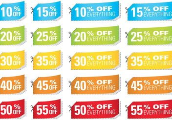 Cut Coupon Vectors - vector #151137 gratis