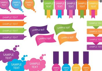 Colorful Text Box Template Vectors - vector gratuit #151147