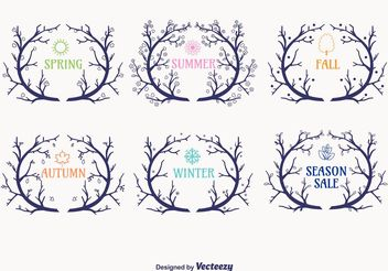 Seasonal Wreaths Branch Vectors - Kostenloses vector #151157