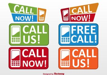 Call Now Buttons and Labels - Free vector #151177