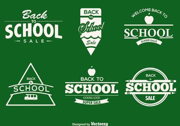 Back To School Typographic Labels - бесплатный vector #151197