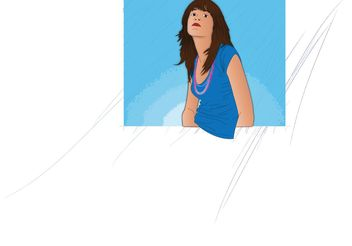 Vector Girl Portrait - Free vector #151267