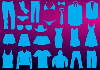 Clothing Vectors - Free vector #151327