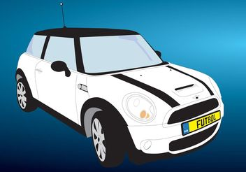 Free Mini Cooper Car Vector - Free vector #151347