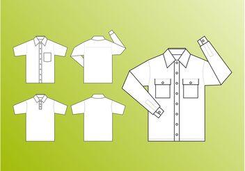 Shirt Templates Vector - Kostenloses vector #151357