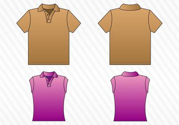 Shirt Templates - Kostenloses vector #151377