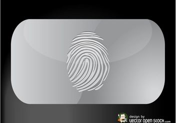 Fingerprint Business Card - vector gratuit #151417