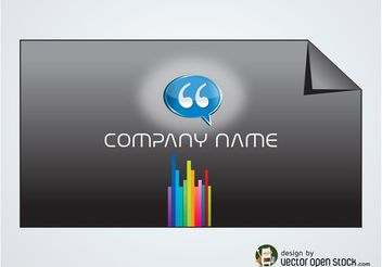 Rainbow Business Card - vector #151467 gratis