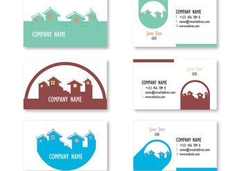 Minimalistic Real Estate Business Cards - vector #151477 gratis