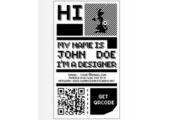 8 Bit Business Card - vector gratuit #151517