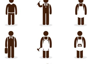 Work Stick Figure Icons Vector Pack - Free vector #151587