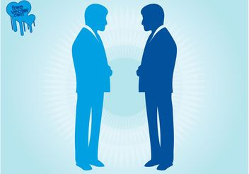 Businessmen Silhouettes Vectors - Free vector #151637