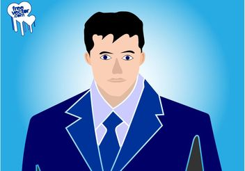 Businessman Portrait - Free vector #151647